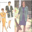 Simplicity Sewing Pattern 7101 Misses Size 16-24 Easy Straight Dress Unlined Jacket Belt