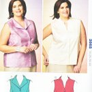 Kwik Sew Sewing Pattern 3865 Women's Plus Size 1X-4X (22W-32W) Button Front Sleeveless Shirt