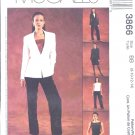 McCall's Sewing Pattern M3866 3866 Misses Size 16-22 Wardrobe Lined Top Jacket Pants Skirt