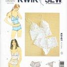 Kwik Sew Sewing Pattern K3167 3167 Misses Size 8-18 Underwear Lingerie Camisole Panties