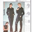 Burda Sewing Pattern 8846 Misses Sizes 10-20 Pantsuit Jacket Top Pants