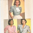 Simplicity Sewing Pattern 6706 Misses Size 14 B36 Classic Button Front Blouses Sleeve Options
