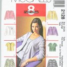 McCall's Sewing Pattern 2128 Misses Size 8-10 Easy Cardigan Top Shell Twin Set
