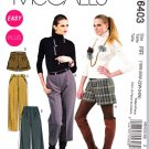 McCalls Sewing Pattern 6403 Misses Size 8-16 Easy Shorts Cropped Capri Pants