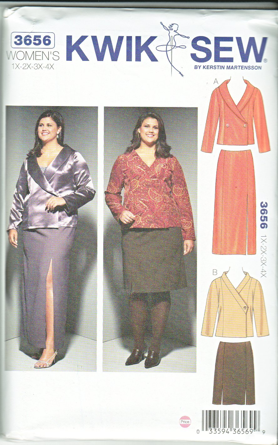 Kwik Sew Sewing Pattern 3656 Women S Plus Sizes 1x 4x