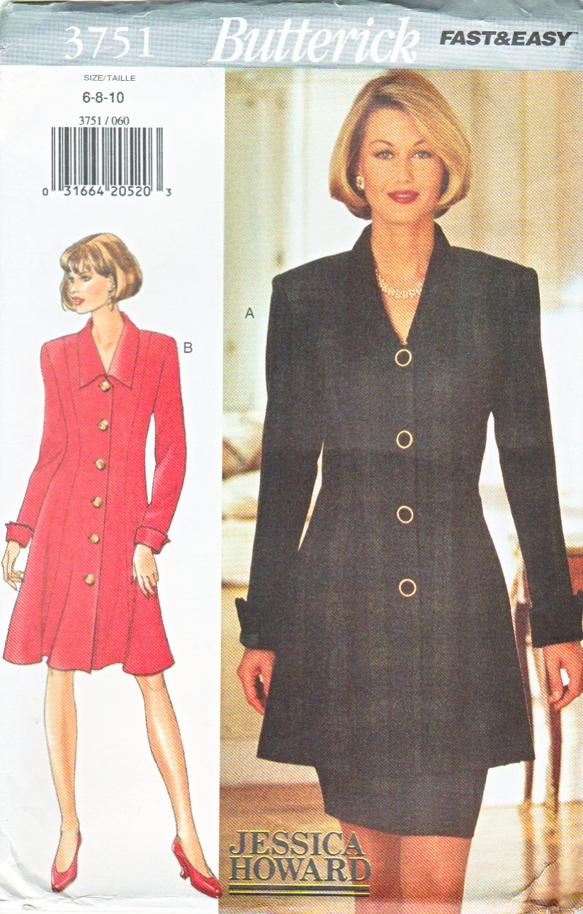 Butterick Sewing Pattern 3751 B3751 Misses Size 6-10 Easy Jessica Howard Dress Tunic Skirt