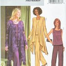 Butterick Sewing Pattern 4022 Misses Size 8-12 Easy Loose Fitting Jacket Sleeveless Top Shell Pants