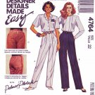 McCalls Sewing Pattern 4764 Misses Size 12 Easy Palmer/Pletsch Pants & Fitting Shell