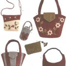 Simplicity Sewing Pattern 3715 Washed Felt Appliqued Bags Accessories Purse Handbag Tote
