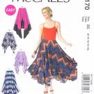 McCall's Sewing Pattern 7170 Misses Size 8-16 Easy Knit  Skirt Length Options Asymmetrical Hemline