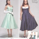 Simplicity Sewing Pattern 1155 Misses Size 10-18 Vintage Style Dress Fitted Bodice Full Flared Skirt