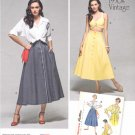 Simplicity Sewing Pattern 1166 Misses Sizes 16-24 Vintage Style Button Front Skirt Blouse Bra Top
