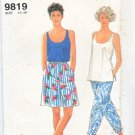 Simplicity Sewing Pattern 9819 Misses Sizes 10-20 Easy Pullover Tank Top Pants Shorts