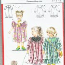 Burda Sewing Pattern 5588 Girls Size 3-4-6 Dress Round Yoke Puffy Short Long Sleeves Collar