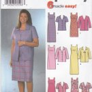 Simplicity Sewing Pattern 7076 Misses Size 8-14 Easy Jacket Straight Sheath Sleeveless Dress