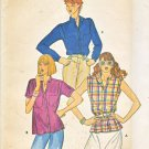 Butterick Sewing Pattern 6911 Misses Size 10 Button Front Top Shirt Blouse Sleeve Options