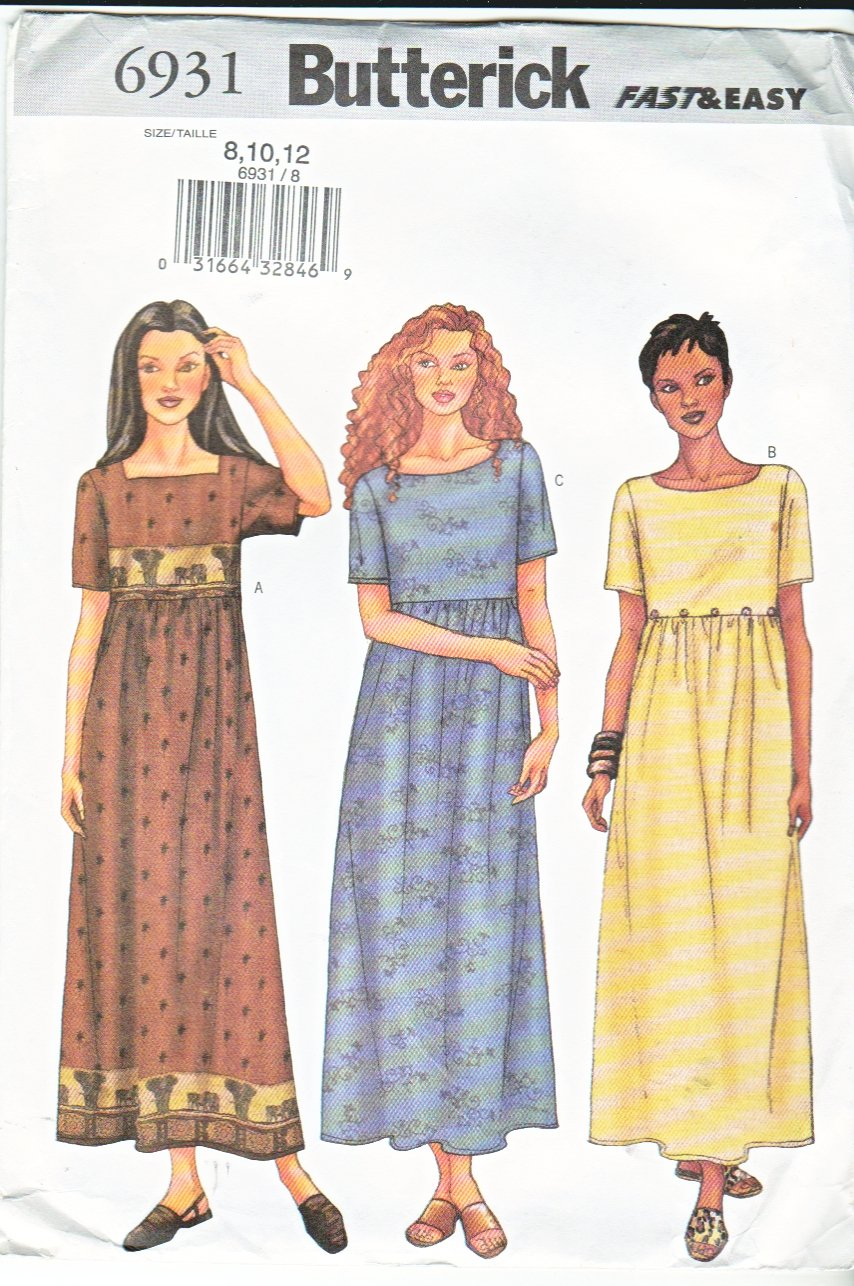 Butterick Sewing Pattern 6931 Misses Size 8 12 Easy Loose