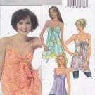Butterick Sewing Pattern 4550 Misses Size 6-8-10-12 Easy Empire Waist Loose Fitting Tops Tunics