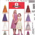 McCall's Sewing Pattern 3260 Girls Size 4-5-6 Easy Halter Sleeveless Summer Dress Sundress