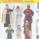 McCall's Sewing Pattern 2340 Boys Girls Size 8-10 Nativity Angel King Mary Wise Men Costumes