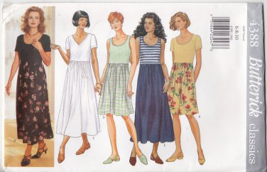 Butterick Sewing Pattern 4388 Misses Sizes 6-10 Easy Classics Dress Knit Bodice