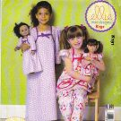 "Kwik Sew Sewing Pattern 0191 K0191 Girls Sizes 3-10 18"" Doll Top Pants Gown Nightgown"