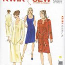 Kwik Sew Sewing Pattern 3181 Misses Sizes 8-22 Sleeveless Dress Long Sleeve Jackets