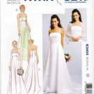 Kwik Sew Sewing Pattern 3400 Misses Sizes 8-22 Fitted Bodice Train Bolero Wedding Dress