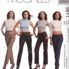 McCall's Sewing Pattern 3811 Misses Size 12-18 Classic Mid-Rise Low-Rise Hip Hugger Fitted Pants