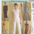 McCall's Sewing Pattern 4007 Misses Size 8-14 Classic Fit Wardrobe Front Wrap Dress Top Pants