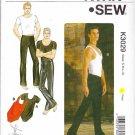 "Kwik Sew Sewing Pattern 3029 Men's Sizes S-XL (chest 34""- 48"") Knit Dancewear Leotard Top Pants"