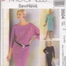 McCall's Sewing Pattern 3504 Misses Size 4-14 Easy Sew News Wardrobe Knit Dress Top Skirt Pants