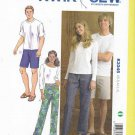 "Kwik Sew Sewing Pattern 3345 Men's Misses Sizes XS-XL (Hip 33""- 45"") Easy Pull-On Pants Shorts"