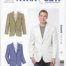 "Kwik Sew Sewing Pattern 3485 Men's Sizes S-XXL (Chest 34""- 52"") Button Front Jacket Blazer"