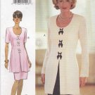 Butterick Sewing Pattern 3878 Misses Size 12-14-16 Easy David Warren Long Short Sleeve Dress