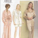 Vogue Sewing Pattern 7645 Misses Size 20-22-24 Easy Bathrobe Top Pants Shorts Pajamas
