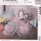 McCall's Sewing Pattern 5777 Pillow Essentials Round Square Heart Bolster Headrest