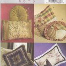 Butterick Sewing Pattern 4563 Eight Pillows Cushions Round Square Rectangle Pyramid Bolster