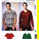 "Kwik Sew Sewing Pattern 3878 Men's Size S-XXL (Chest 34"" - 52"") Pullover Short Long Sleeve T-Shirt"
