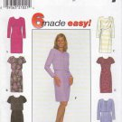 Simplicity Sewing Pattern 7898 Misses Size 8-12 Easy Short Long Sleeve Dress Jacket Drape