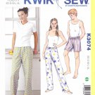Kwik Sew Sewing Pattern 3074 Youth Sizes XS-XL Sleep Pajama Pants Shorts