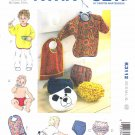 Kwik Sew Sewing Pattern 3112 Baby Toddler Size NB - 18 months (XS-XL) Baby diaper covers and bibs.
