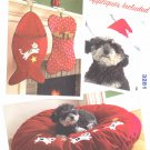 Kwik Sew Sewing Pattern 3281 Dog Cat Bone Fish Stockings Sleep Pillow Santa Hat
