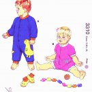 Kwik Sew Sewing Pattern 3310 Baby Size 3-18 months (XS-XL) Booties Jumpsuits Sleepers