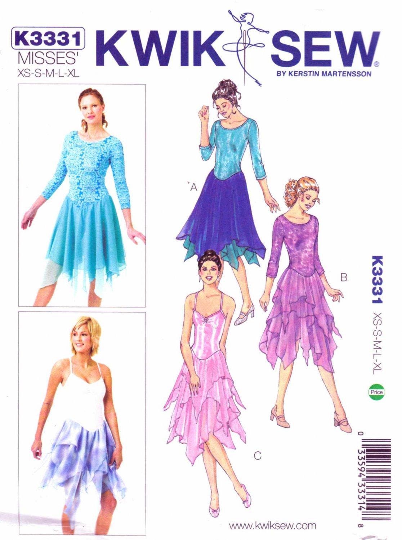 Kwik Sew Sewing Pattern 3331 Misses Size 6-22 Leotards