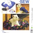 Kwik Sew Sewing Pattern 3357 Dog Pillows Toys Jackets Sizes XS-XL NO SEWING REQUIRED!