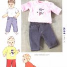 Kwik Sew Sewing Pattern 3374 Baby Sizes 0-18 Months Blue Jeans Long Sleeve Shirts