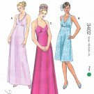 Kwik Sew Sewing Pattern 3402 K3402 Misses Sizes XS-XL (approx. 8-22) Halter Neck Formal Dresses