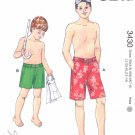 Kwik Sew Sewing Pattern 3430 Boys Sizes 4-14 Shorts Swim Trunks