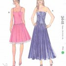 Kwik Sew Sewing Pattern 3448 K3448 Misses Sizes 6-22 Strapless Spaghetti Strap Formal Dress